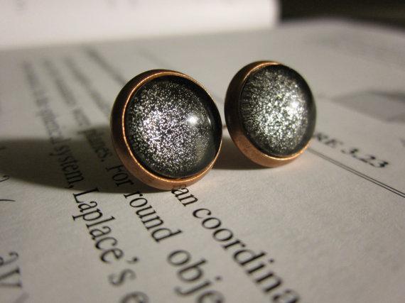 Black Hole Earrings Studs