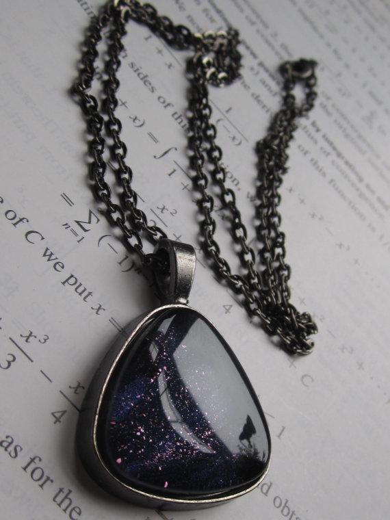 Dark Matter Triangle Necklace
