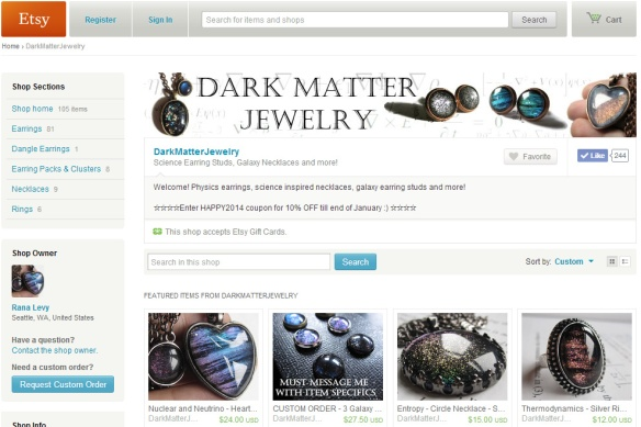 Dark Matter Jewelry Home Page