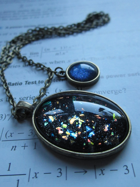 Singularity and Gravity Oval Necklace