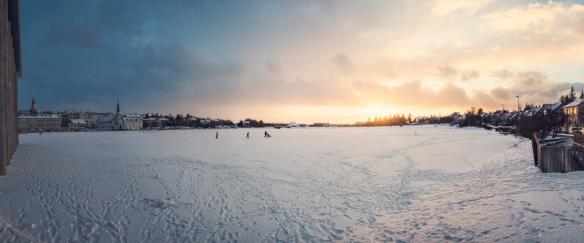 Frozen Reykjavik Lake 1